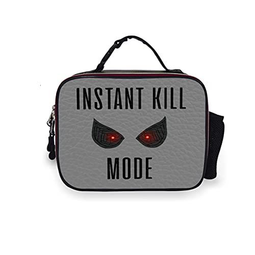 Instant Kill Mode-lonchera grande reutilizable térmica para la escuela, almuerzo enfriador de comida, comida personalizada, bolsas de cuero impermeables con asa con hebilla para niños y mujeres