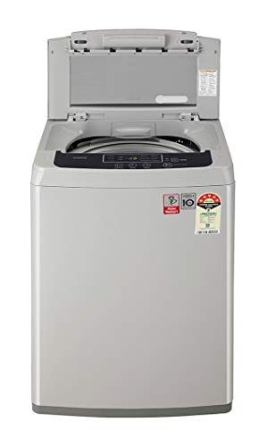 LG 6.5 Kg 5 Star Smart Inverter Fully-Automatic Top Loading Washing Machine (T65SKSF1Z, Middle Free Silver) 2020