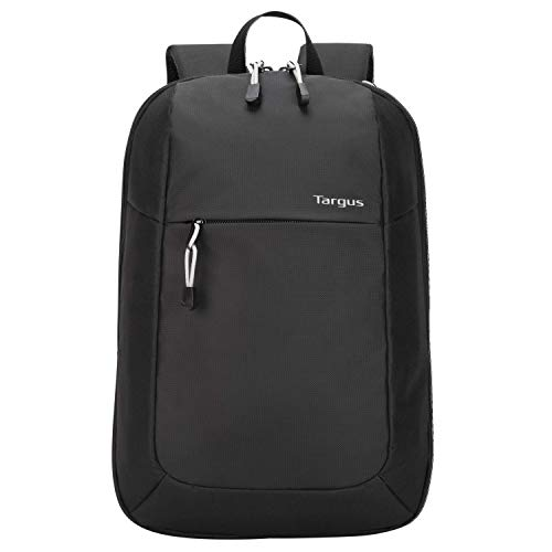 targus cool backpacks Targus Intellect Essentials Backpack for Lightweight Water-Resistant Slim Travel with Padded Back Support, Quick Access Stash Pouch, Protective Sleeve for 15.6-Inch Laptop Backpack, Black (TSB966GL)