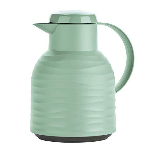 Emsa N4010800 Samba Wave Isolierkanne 1,0 Liter minze Quick-Press Kunststoff, Glas-Isolierkolben, Kaffeekanne: 12h heiß/24h kalt, made in Germany, 100 {542a9d62b3cd8c316f0eace1f9d0eb6b8ee88184819d42c53f0df07938d1b740} dicht, minze