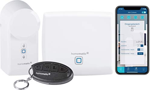 Homematic IP 156033A0 Starter Set Zutritt Smart Home Türschlossantrieb