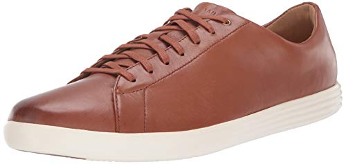 Cole Haan Men's Grand Crosscourt II Sneaker, tan leather burnished, 11 Medium US