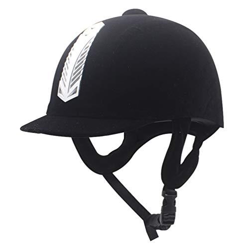 HZQIFEI Casco Ecuestre para Equitación Deportivo, Casco de Montar a Caballo Sombrero de Seguridad Resistente para Mujeres y Hombres (Plateado#2, 6 7/8-7)