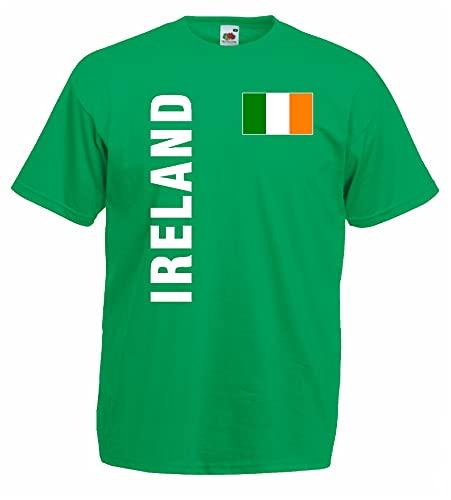 World-of-Shirt Herren T-Shirt Irland Trikot Fan Shirt g-XL