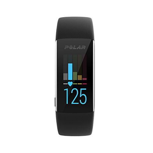 POLAR A370 Fitness Tracker Watch, Black, M/L