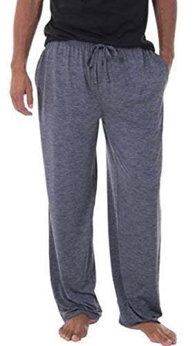 Fruit of the Loom Men's Sleepwear | Moisture Wicking Pajama Knit Pant| 91% Polyester / 9% Spandex | Grey