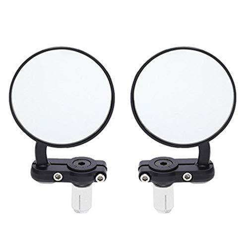Retrovisor Patinete Electrico, Espejos Retrovisores Laterales Modificados De La Motocicleta Del Manillar Del Espejo Plegable Modificado De La Moto Ajustable ⭐