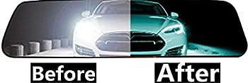 2 PCS Car Rear View Mirror Anti-Glare Film Interior Rearview Mirror Anti Glare Membrane Anti-Scratch Sticker Safe Driving Protective Film