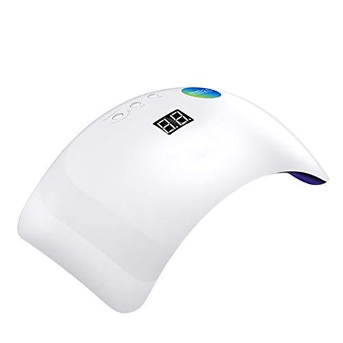 Appareil de photothérapie à ongles Séchoir à vernis à ongles - Sèche-vernisage portatif pour source de lumière UV à double source de lumière UV LED Convient à tous les vernis à ongles en gel