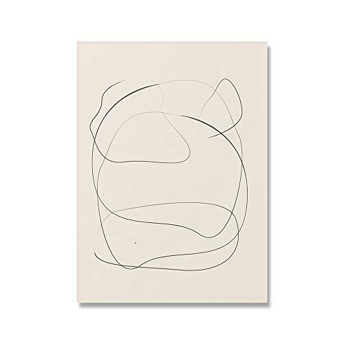 Cuadro sobre lienzo para pared Picasso Matisse, carteles e impresiones nrdicos con flores abstractas para nia, pintura en lienzo sin marco para el hogar B 50x70cm