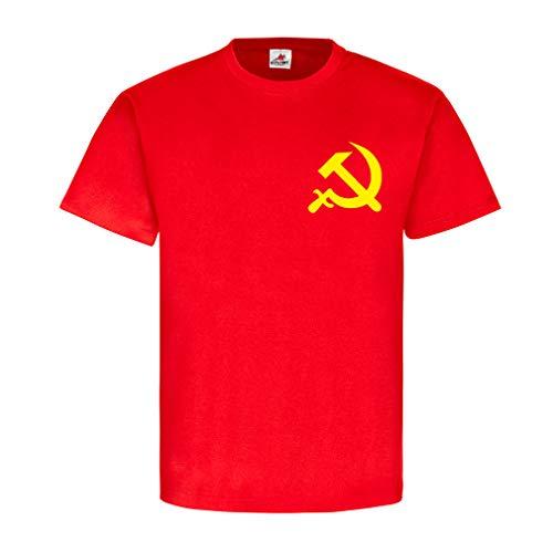 UDSSR Russland Russia Hammer und Sichel Sowjetunion SU Russisch Russen Emblem Brust Abzeichen Kommunismus T Shirt #20466, Größe:M, Farbe:Rot