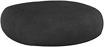 Chill Sack Bean Bag Chair: Giant 7' Memory Foam Furniture Bean Bag - Big Sofa with Soft Micro Fiber Cover - Charcoal Micro Suede