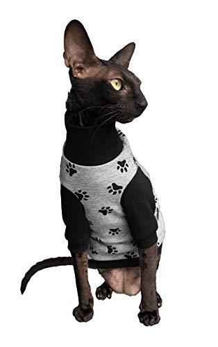 Kotomoda Katzen Rollkragen glückliche Pfoten (XL)