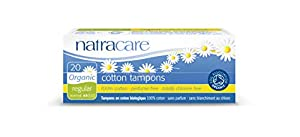 Natracare Organic All Cotton Tampons, Non-Applicator, Regular, 20 Count Boxes