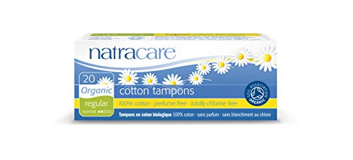 Natracare Organic All Cotton Tampons NonApplicator Regular  20 Count Pack of 12