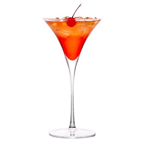 Verres Margarita Cup Martini Cup Verre À Cocktail Verre Personnalité Bar Coupe Set Champagne (Color : Clear, Size : Q)
