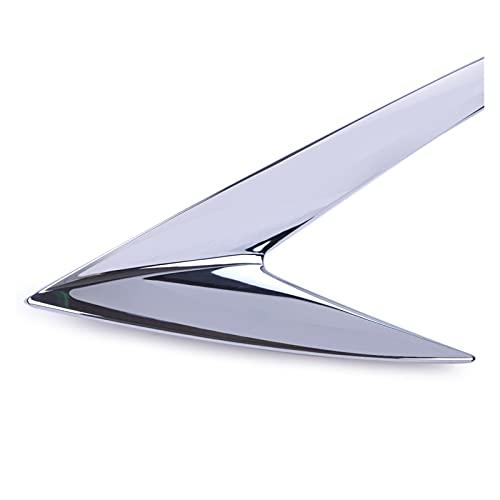 XINLIN Ruderude 2pcs Abdominales Chrome Car Frontal Footlight Footlight Four Lámpara Luz Lámpara Eyálfico Eyebrow Trim Ajuste para Ford Escape Kuga 2013 2014 2015 2016 2016