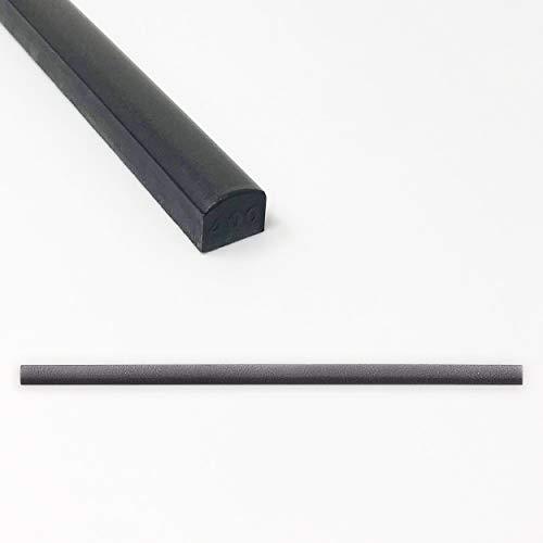 Tile Trim 1/2 x 12 inch Soho Listel Low Pencil Shower Ceramic Tile Edge Backsplash Liner Wall Molding - Wrought Iron Metal Finish (12 Pack)