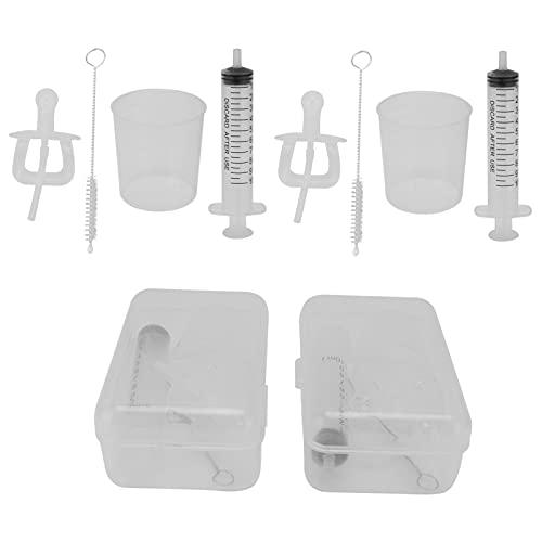 2 Juegos de Dispensadores de Medicamentos Líquidos para Chupetes con Jeringa Oral, Limpiador Irrigador Nasal Seguro de Alta Calidad con Cepillo de Limpieza para Bebés Recién Nacidos de 0 a 6 Meses