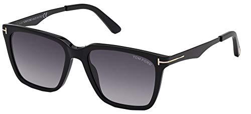 Tom Ford Gafas de Sol GARRETT FT 0862 Shiny Black/Grey Shaded 56/17/145 hombre