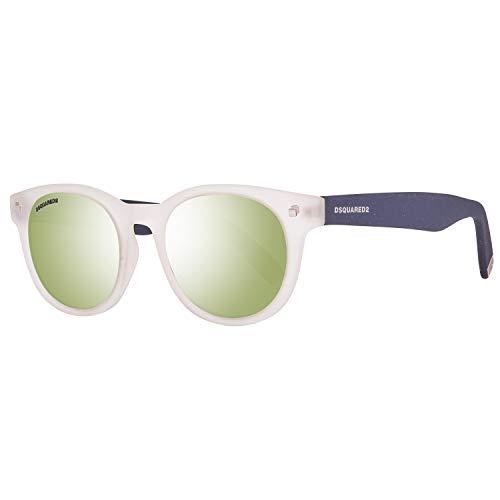 DSquared DQ0184 5126Q Dsquared2 zonnebril Dq0184 26Q 51 Wayfarer zonnebril 52, wit
