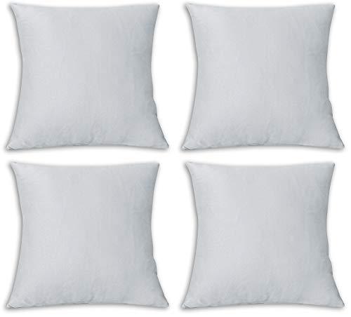 FARFALLAROSSA Fundas de cojín cuadradas, impermeables y antimanchas, decoración para sofá o casa, 40 x 40 cm, color gris claro, paquete de 4