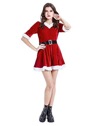 Feynman - Costume da Babbo Natale per adulti Jupe Courte M