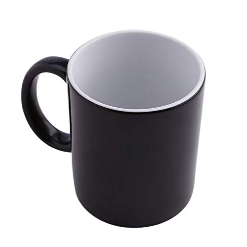 Taza de café creativa que cambia de color para la taza de cerámica de cambio de temperatura de color taza de café
