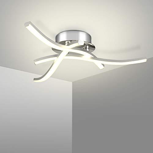 LED Deckenleuchte 16W Deckenlampe 3 flammig 4000K Wohnzimmerlampe IP21 Geeignet für Wohnzimmer Schlafzimmer Korridor