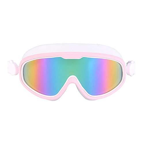 MHP Bril voor volwassenen, grote platte coating met UV-bescherming, waterdicht, anti-condens, een zwembril roze