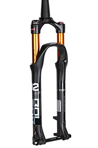 QHY Cycling Suspension forks 26 27.5 29 Inch Mountainbike Suspension Fork Ultra Light Bike Front Fork Cone Steerer 1-1/2' Thru Axle 15mm Disc Brake Bicycle Travel 100mm