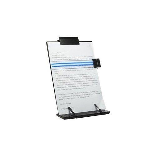 JDYYICZ Black metal desktop document book holder with 7 adjustable positions