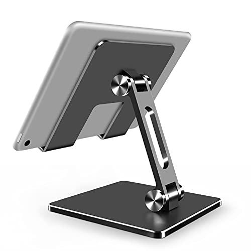 Tablet PC Soporte de Escritorio Teléfono móvil Pegado Perezoso Adecuado para iPad Huawei Apple Soporte (Color : Gray)