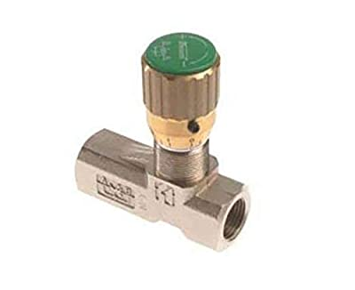 Nickel Plated, Brass Body Needle Valves - Port Size: 1/4'' NPT from Stauff