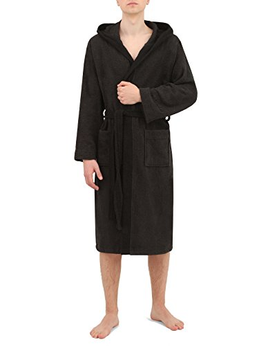 Di Ficchiano DF-30 Unisex Bademantel anthrazit/Black Gr. 4XL