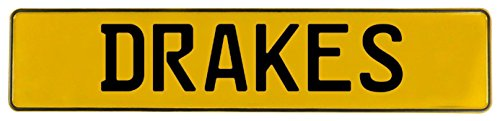Vintage Parts 633683 Yellow Stamped Aluminum Street Sign Mancave Wall Art (Drakes)
