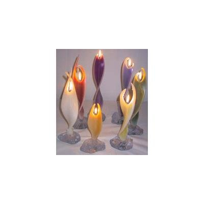 Alaya Engelkerze 40cm mit ca. 10 Stunden Brenndauer - 7 farbsortierte Kerzen im Set | Alaya Engelwelt