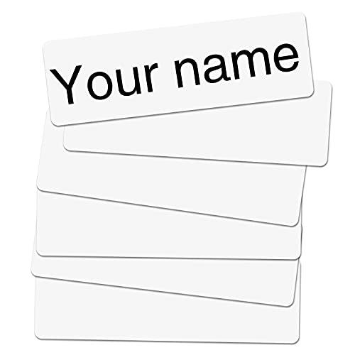LUTER 150 Pezzi Etichette Personalizzate per Vestiti, Autoadesive Scrivibili Etichette Adesive con Nome Personalizzate Impermeabili Etichette per Bambini Scuola Casa di Cura Asilo Nido (Bianco)