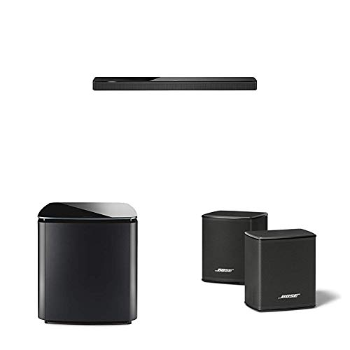 Bose Soundbar 700, Bluetooth, Wi-Fi, Nero + Bass Module 700, Wireless, Nero + Surround Speakers, Suono Surround, Nero
