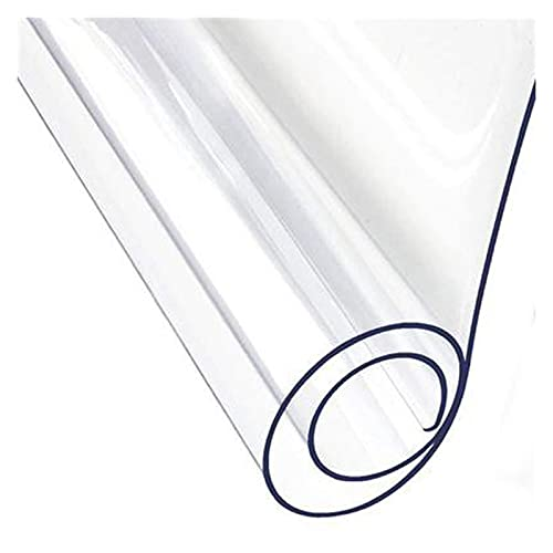 KUAIE Alfombrilla de Oficina Tapetes para Pisos Duros 1,5/2,0/3,0MM Transparente Esteras para Sillas Antideslizante Durable Protector Piso Duro, 51 Tamaños (Color : 2.0mm, Size : 100X120cm)