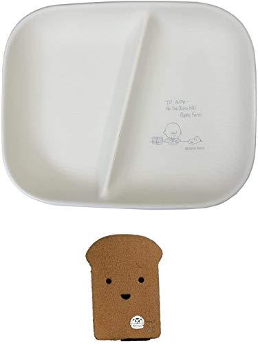 スヌーピー 割れにくい ワンプレート お皿 食器 お子様プレート 電子レンジ食洗機OK スタディシリーズ 日本製 当店オリジナルロゴ入り2点セット(プレート、スポンジ)