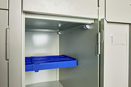 LockerMate Adjust-A-Shelf Locker Shelf, Easy to Use, Extends to Fit Your Locker, Blue