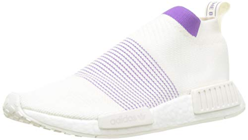 adidas Damen NMD_cs1 Pk W Gymnastikschuhe, Weiß (Cloud White/Crystal White/Active Purple), 39 1/3 EU