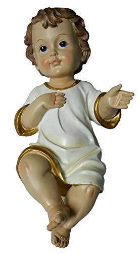 GESU' BAMBINO PRESEPE 20 cm STATUA BABY JESUS ADDOBBI NATALE bambinello 25420