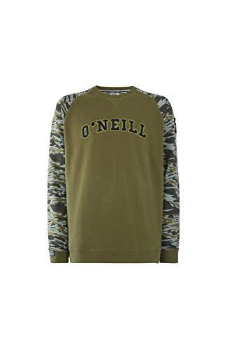 O'NEILL Runyon Crew SR Sweat-Shirt à Manches Longues pour Homme S Vert (Winter Moss)