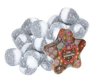 Salmiak Bonbon Kugeln – gefüllt Sterndose 400g