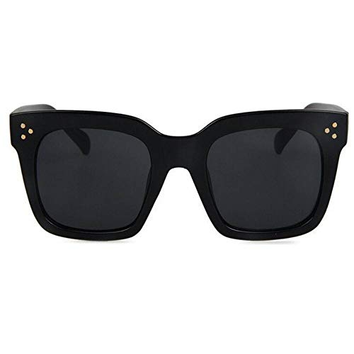 ZRTYJ Gafas de Sol Moda Kim Kardashian Gafas de Sol Lady Flat Top Eyewear Lunette Femme Mujeres Marca Gafas de Sol Mujeres Remache Sun Glasse