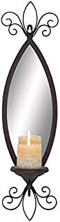 Deco 79 93739 Metal & Mirror Candle Sconce