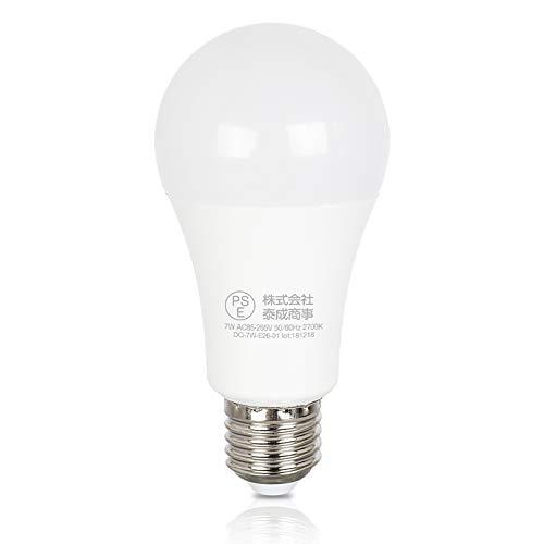 Dotoy LED 電球 センサー e26 明暗センサーライト 50W形相当 電球色 7w 常夜灯 自動点灯&消灯 光センサー