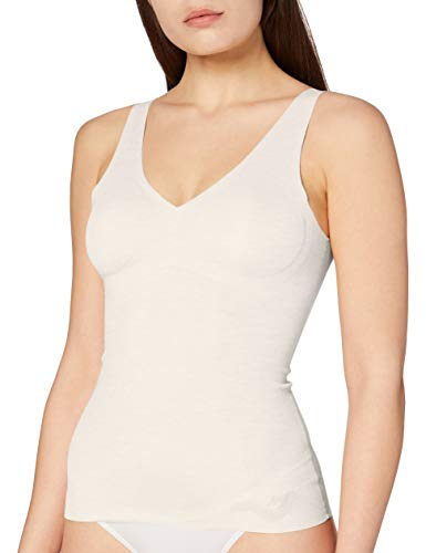 Sloggi Damen Zero Feel Natural Shirt 02 Unterhemd, Elfenbein (Angora 6308), 40 (Herstellergröße: M)